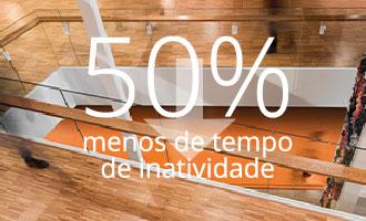 50% Menos Tempo de Inatividade | Bona Brasil